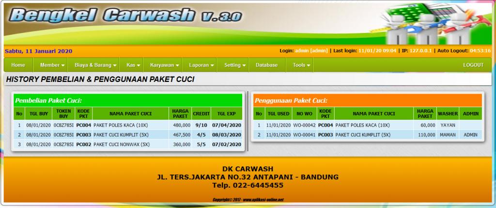 Aplikasi Carwash